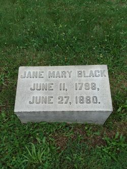 "Mary Jane ""Jane"" <I>Spencer</I> Black"