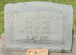 Ola Madelyn Kunz