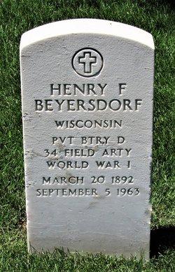 Henry F Beyersdorf