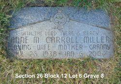 Anne Maria <I>Carroll</I> Miller