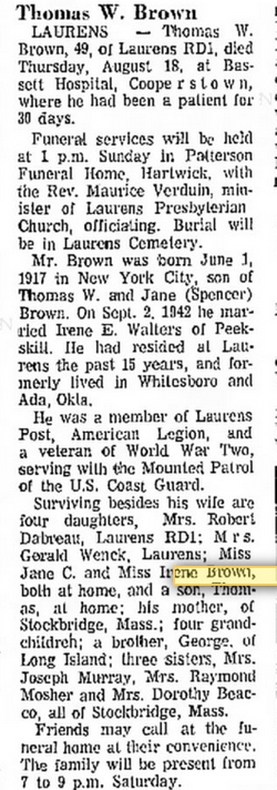 Thomas Wilson Tom Brown Jr 1917 1966 Find A Grave Memorial Once that bombshell has sunk in, prepare yourself for this. find a grave