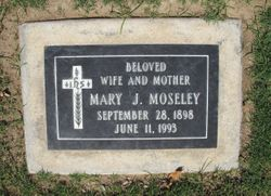 Mary J <I>Holder</I> Moseley