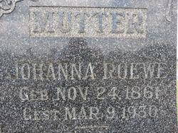 Johanna Catharine <I>Ellinghausen</I> Roewe