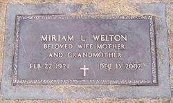 Miriam Lucille <I>Davenport</I> Welton