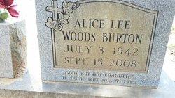 Alice Lee <I>Woods</I> Burton