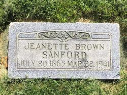 Jeanette <I>Brown</I> Sanford