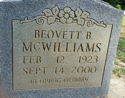 Beovett B McWilliams