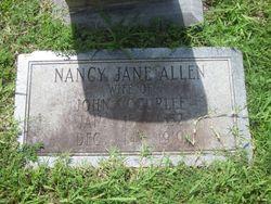 Nancy Jane <I>Allen</I> Curlee