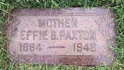 Effie <I>Bennion</I> Paxton