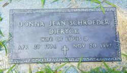 Donna Jean <I>Schroeder</I> Dieryck