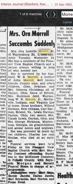 Ora Isabelle <I>Harman</I> Morrell