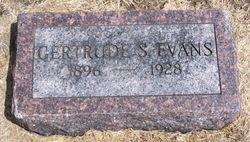 Flora Gertrude <I>Saul</I> Evans