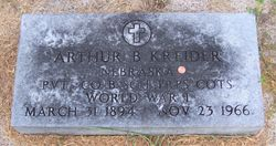 Arthur B Kreider