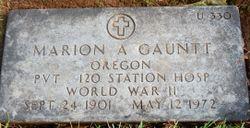Marion A Gauntt