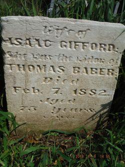 Elizabeth <I>Rogers</I> Baber Gifford