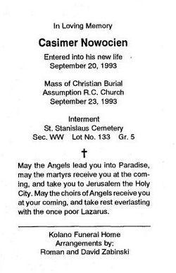 Casimer Nowocien (Unknown-1993) - Find A Grave Memorial