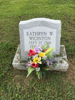 Kathryn W. <I>Wanner</I> Wiginton