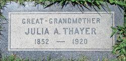 Julia A. <I>Martin</I> Thayer
