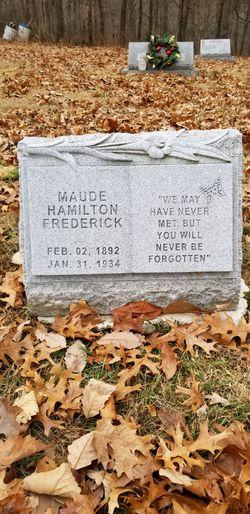 Maud L <I>Hamilton</I> Frederick