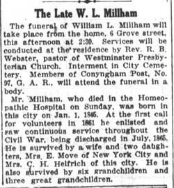Pvt William L. Millham