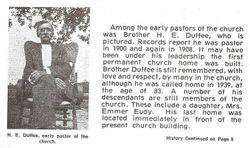 Rev Henry Edward Duffee