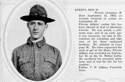 """PVT Benjamin Harrison """"Bennie"""" Adkins"""