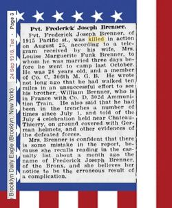Frederick J Brenner
