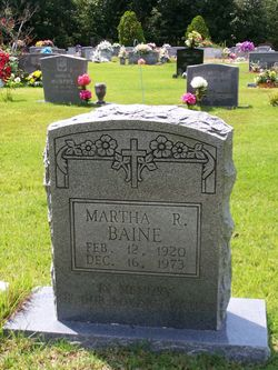 Martha <I>Roberts</I> Baine