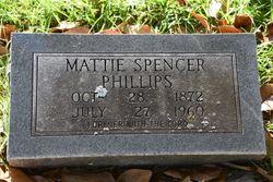 Mattie <I>Spencer</I> Phillips