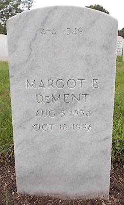Margot E DeMent