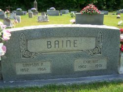 Exie Lee <I>Roden</I> Baine