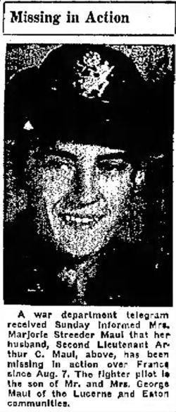 2nd Lt Arthur Maul