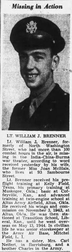 Lieut William J. Brenner