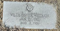 Willie Oneita Whitaker