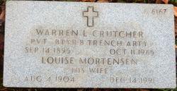 Warren L Crutcher