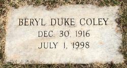 Martha Beryl <I>Duke</I> Coley