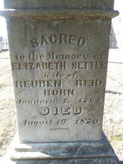 Elizabeth Williams <I>Settle</I> Reid