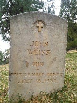 Pvt John Weiss
