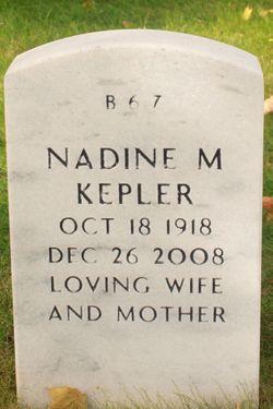 Nadine A <I>Mohler</I> Kepler