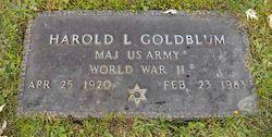 Dr Harold Leonard Goldblum