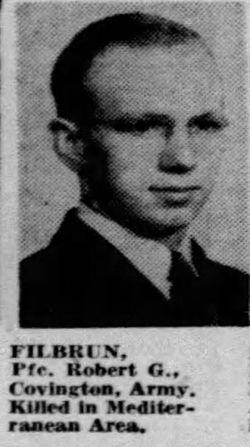 PFC Robert G Filbrun