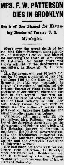 Flora W. <I>Wambaugh</I> Patterson