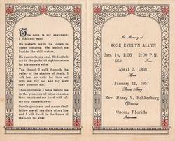 Rose Evelyn <I>Knestrick</I> Allyn