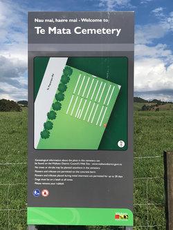 Te Mata Cemetery