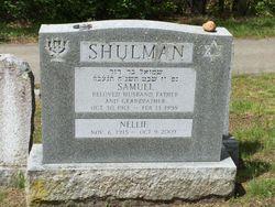 Nellie <I>Evans</I> Shulman