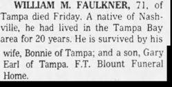 William Melvin Faulkner