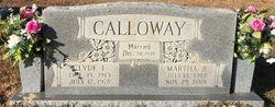Martha Belle <I>Jennings</I> Calloway