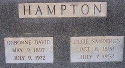 Lillie <I>Sanderlin</I> Hampton