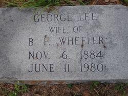 """Georgia B """"George"""" <I>Lee</I> Wheeler"""