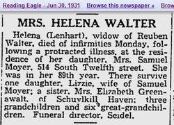 Helena <I>Lenhart</I> Walter